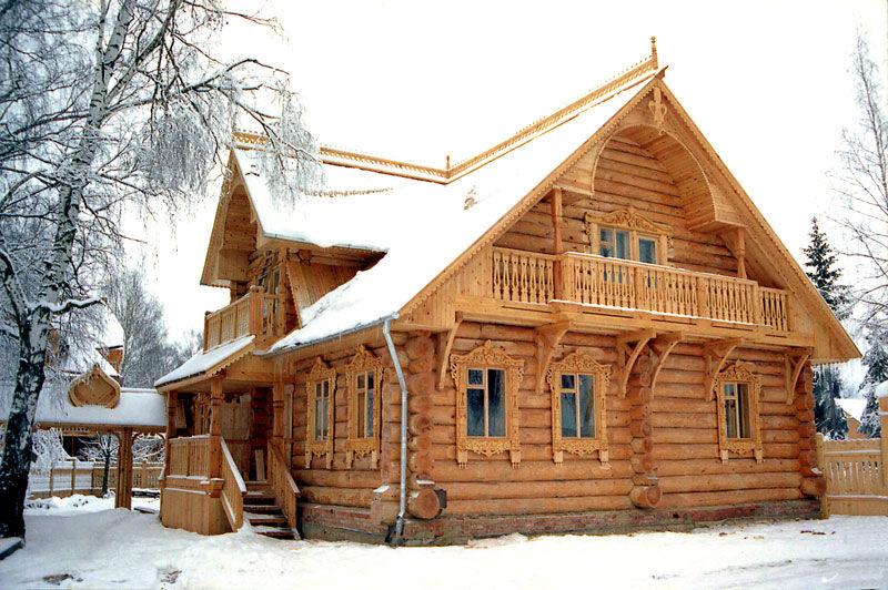 Строительство дома из лиственницы