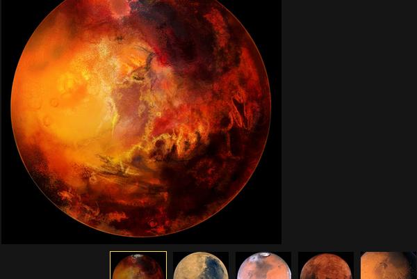 По словам уфологов, на Марсе был найден наскальный рисунок