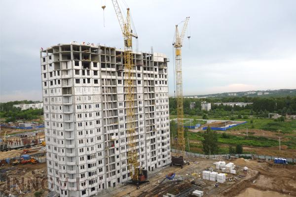 Ввод жилья в России снизился на 17%