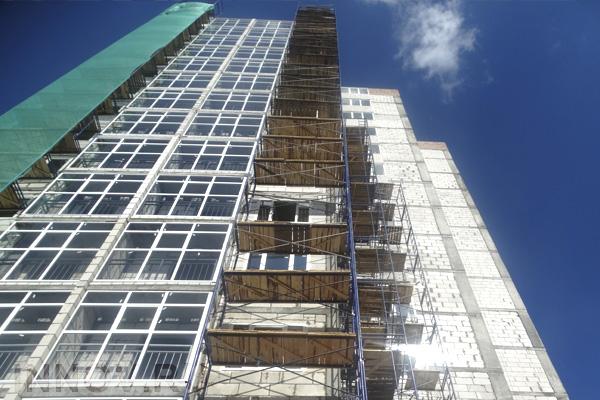 Жилые дома на улице Тихонравова в Королёве возводятся с опережением графика