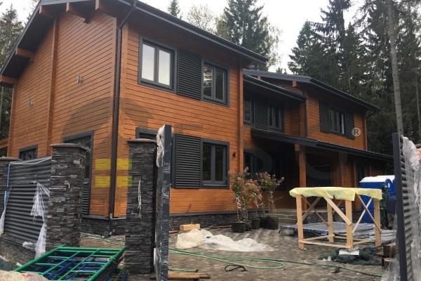 Строительство домов и коттеджей из клееного бруса