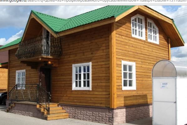 Дома из профилированного бруса: основные преимущества