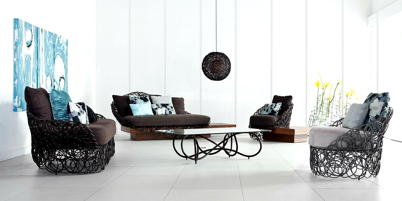 кованая мебель в гостиной